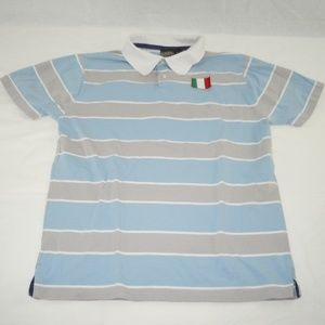 Italia Point Zero Polo Shirt Italy L Italian Large